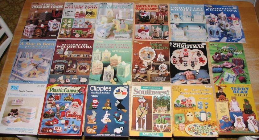 Huge Lot 60 PLASTIC CANVAS PATTERN BOOKS Magazines Fascinating Plastic Canvas Pattern Books