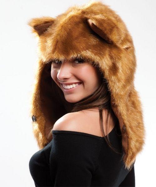 New Unisex Animal Furry Faux Fur Hat Hood Hoodie SA21 Fox