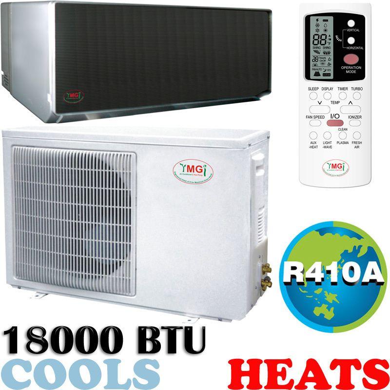 Ton Mini Ductless Split Air Conditioner, Heat Pump 18000 BTU