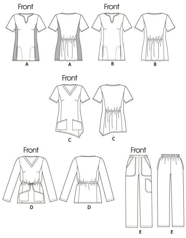 McCalls Pattern 6473 Womens Uniforms Scrubs Top Pants Size 18   24