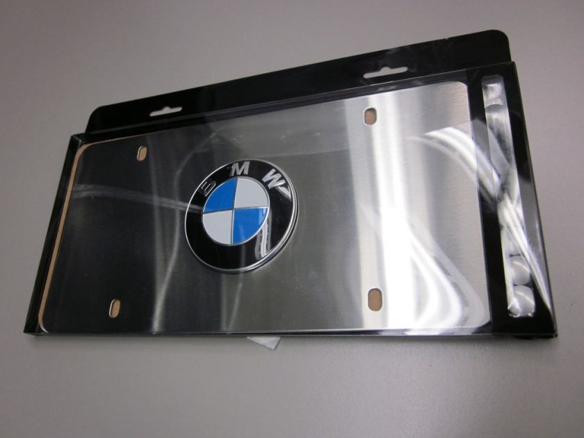 BMW Marque Plates   Satin Stainless Steel