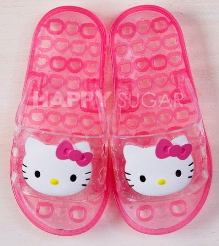 Girl Hello kitty PINK Kids Slippers Sandals Flips Flops SHOES for