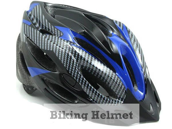 M60 New Carbon Blue MTB Road Bike Bicycle Helmet sz L