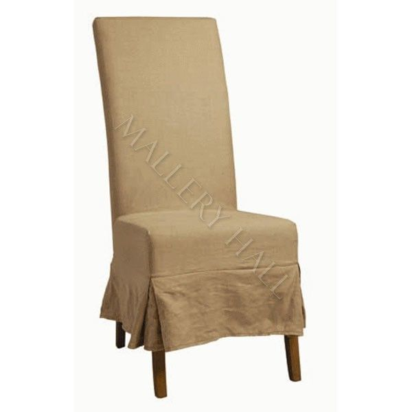 linen slip cover parson dining chairs